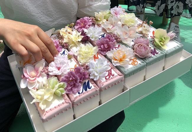 手作りイニシャルボックス